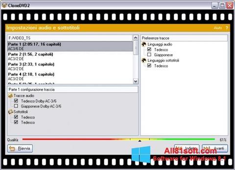 Ekran görüntüsü CloneDVD Windows 8.1