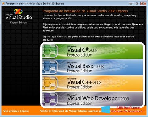 Ekran görüntüsü Microsoft Visual Studio Windows 8.1