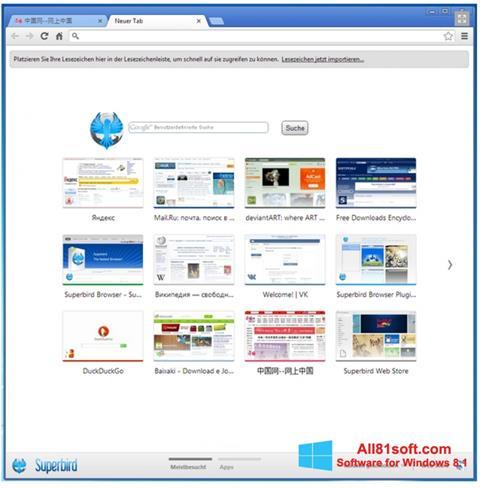Ekran görüntüsü Superbird Windows 8.1