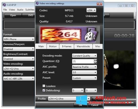 Ekran görüntüsü XviD4PSP Windows 8.1