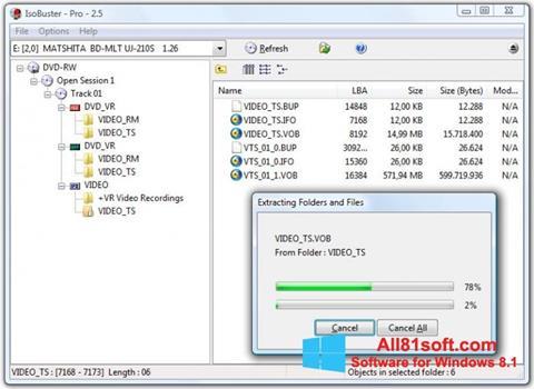 Ekran görüntüsü IsoBuster Windows 8.1