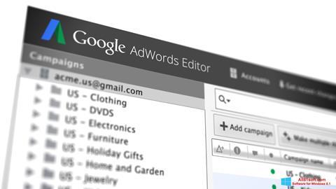 Ekran görüntüsü AdWords Editor Windows 8.1