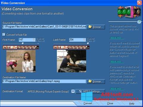 Ekran görüntüsü Active WebCam Windows 8.1