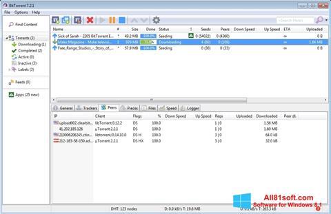Ekran görüntüsü BitTorrent Windows 8.1