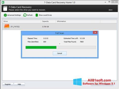 Ekran görüntüsü CardRecovery Windows 8.1