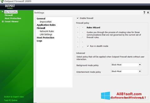 Ekran görüntüsü Outpost Firewall Free Windows 8.1
