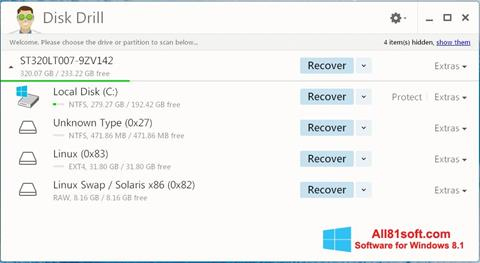 Ekran görüntüsü Disk Drill Windows 8.1