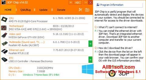 Ekran görüntüsü 3DP Net Windows 8.1