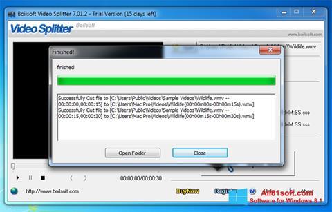 Ekran görüntüsü Boilsoft Video Splitter Windows 8.1
