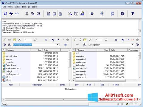 Ekran görüntüsü Core FTP Windows 8.1