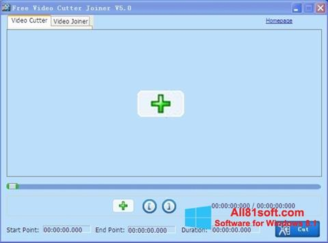 Ekran görüntüsü Free Video Cutter Windows 8.1