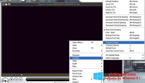 Ekran görüntüsü GOM Player Windows 8.1