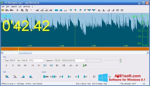 Ekran görüntüsü mp3DirectCut Windows 8.1