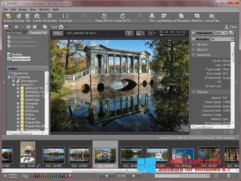 Ekran görüntüsü ViewNX Windows 8.1