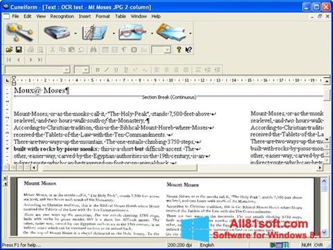 Ekran görüntüsü CuneiForm Windows 8.1