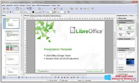 Ekran görüntüsü LibreOffice Windows 8.1