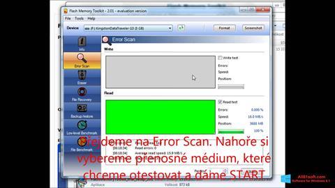 Ekran görüntüsü Flash Memory Toolkit Windows 8.1