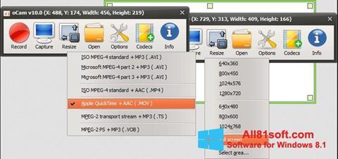 Ekran görüntüsü oCam Screen Recorder Windows 8.1