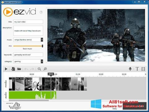 Ekran görüntüsü Ezvid Windows 8.1