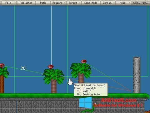 Ekran görüntüsü Game Editor Windows 8.1
