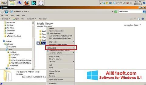 Ekran görüntüsü MagicISO Windows 8.1