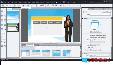 Ekran görüntüsü Adobe Captivate Windows 8.1