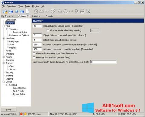 Ekran görüntüsü Vuze Windows 8.1