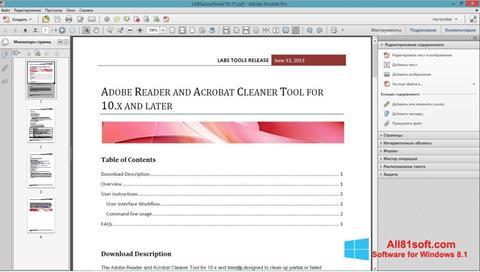 Ekran görüntüsü Adobe Acrobat Pro Windows 8.1