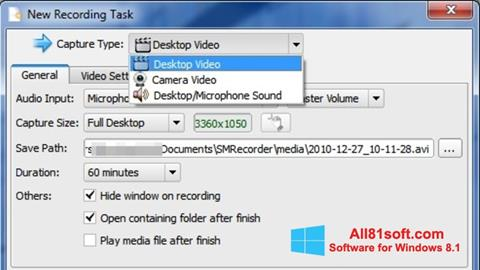 Ekran görüntüsü SMRecorder Windows 8.1
