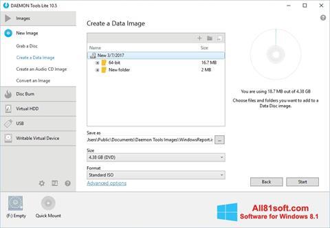 Ekran görüntüsü DAEMON Tools Lite Windows 8.1