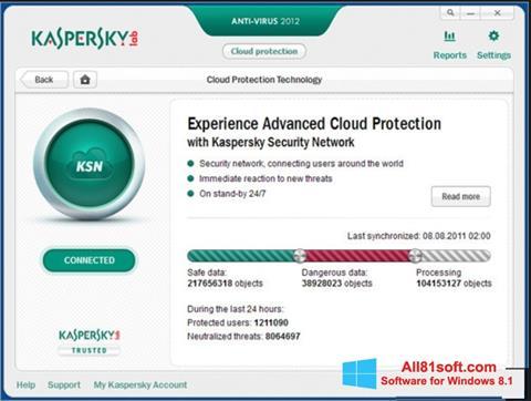 Ekran görüntüsü Kaspersky Windows 8.1