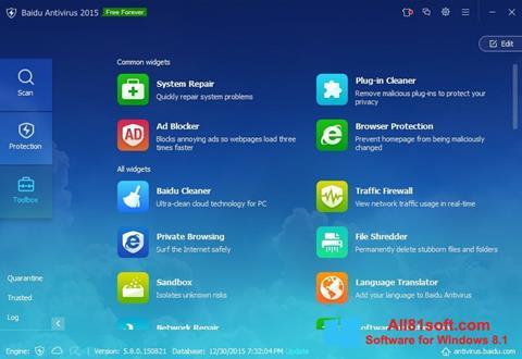 Ekran görüntüsü Baidu Antivirus Windows 8.1