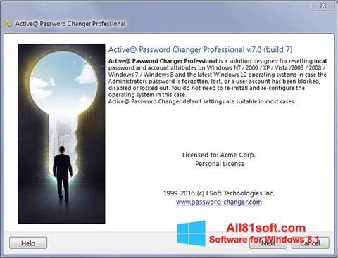 Ekran görüntüsü Active Password Changer Windows 8.1