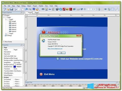 Ekran görüntüsü AutoPlay Media Studio Windows 8.1