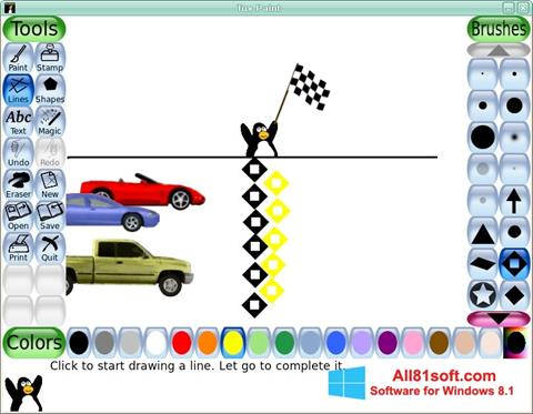 Ekran görüntüsü Tux Paint Windows 8.1