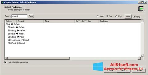 Ekran görüntüsü Cygwin Windows 8.1