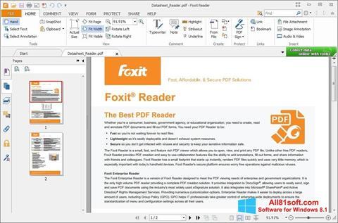 Ekran görüntüsü Foxit Reader Windows 8.1