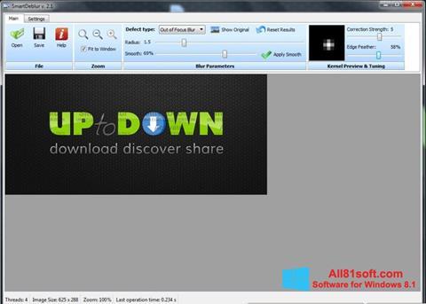 Ekran görüntüsü SmartDeblur Windows 8.1