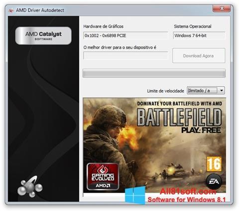 Ekran görüntüsü AMD Driver Autodetect Windows 8.1