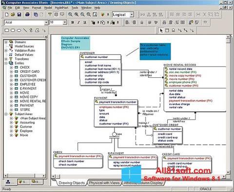 Ekran görüntüsü ERWin Windows 8.1