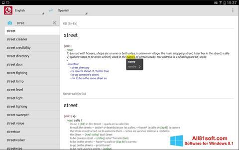 Ekran görüntüsü ABBYY Lingvo Windows 8.1