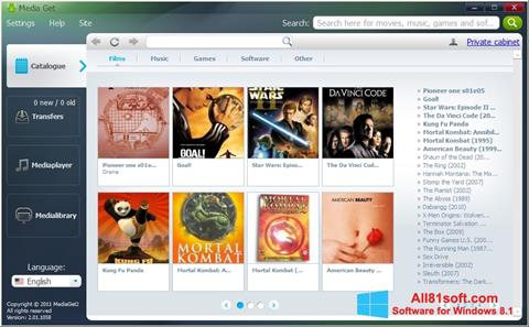 Ekran görüntüsü MediaGet Windows 8.1