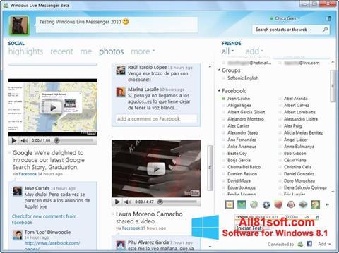 Ekran görüntüsü Windows Live Messenger Windows 8.1