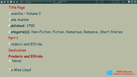 Ekran görüntüsü ICE Book Reader Windows 8.1