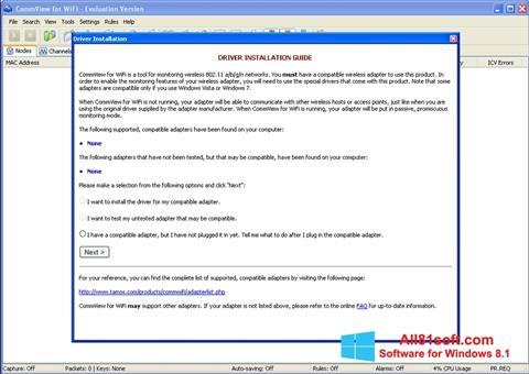 Ekran görüntüsü CommView for WiFi Windows 8.1