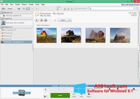 Ekran görüntüsü Picasa Windows 8.1