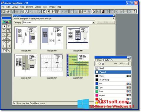 Ekran görüntüsü Adobe PageMaker Windows 8.1