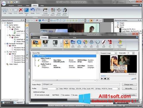 Ekran görüntüsü Free Video Editor Windows 8.1