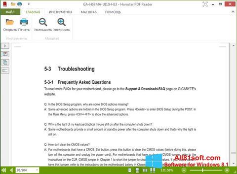 Ekran görüntüsü Hamster PDF Reader Windows 8.1