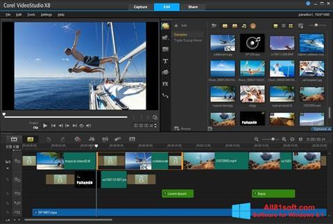 Ekran görüntüsü Corel VideoStudio Windows 8.1
